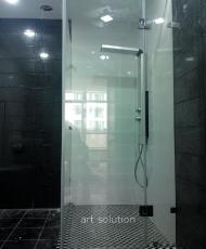 прозрачная душевая кабина стеклянная