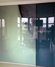 4 стеклянная раздвижная перегородка с фотопечатью