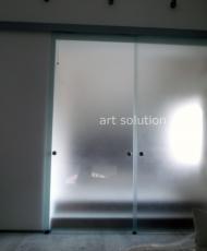 интерьерные стеклянные двери
