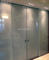 1 интерьерные стеклянные двери