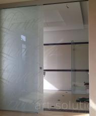 2раздвижная стеклянная перегородка