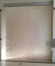 раздвижная стеклянная перегородка