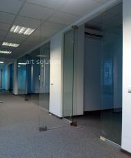 2 офисные стеклянные перегородки