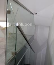 лестничные стеклянные перила