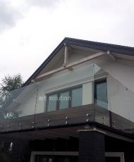 1ограждение балкона из стекла