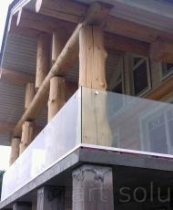ограждение на балконе стеклянное
