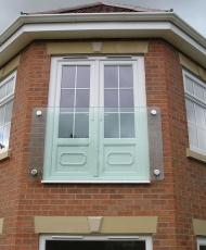 прозрачное ограждение для балкона