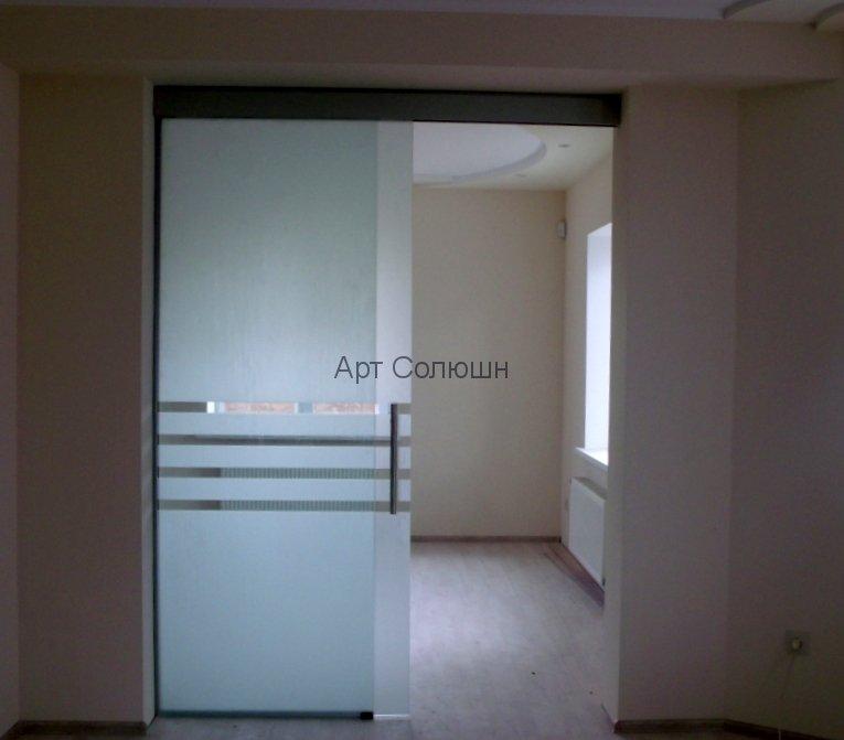 интерьерные перегородки из стекла с дверью