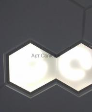 оригинальные стеклянные вставки на потолок