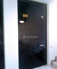 красивая перегородка с раздвижной дверью