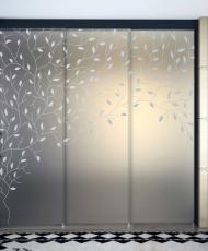 бронзовое стекло двери