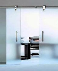 раздвижные двери с открытым роликом