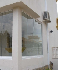 балкон без профиля стекло