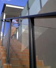 ограждение из закаленного стекла
