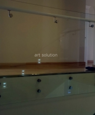 ограждение стеклянное точечное крепление