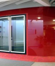 2 красные панели стеклянные
