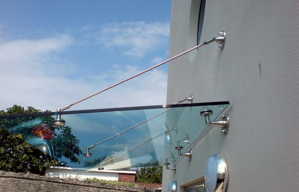 стеклянные козырьки на вантакх