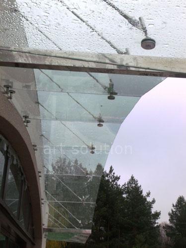 козырек из стекла