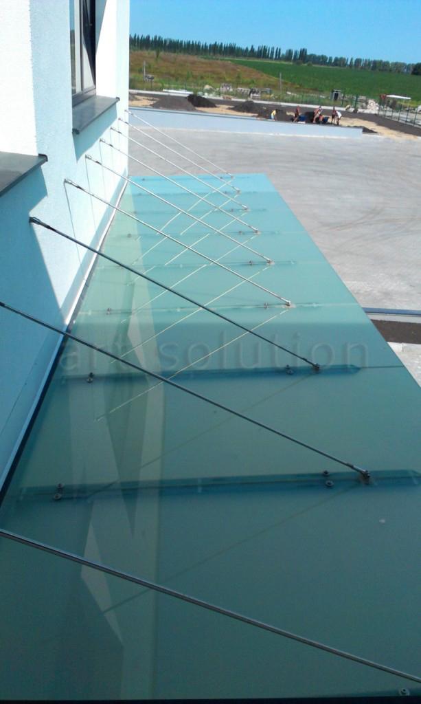 стеклянные козырек матовое стекло
