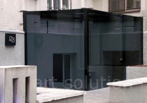 стеклянный тамбур, предбанник из стекла