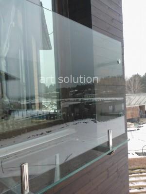 балкон стеклянный с прозрачным полом