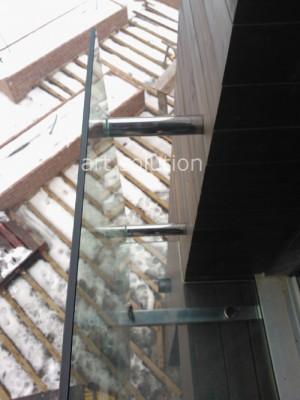 стеклянный балкон креления