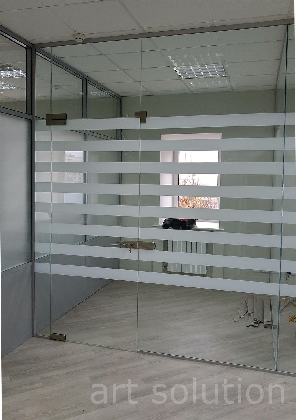 стеклянные офисные перегородки киев